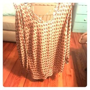 Tunic Maurice's Tan and Black Size 1(1X)